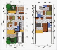 Gambar Denah Rumah Minimalis 2 Lantai Modern 1