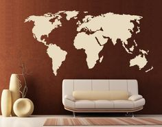 Style & Apply - World Map - wall decal, sticker, mural vinyl art home decor Style & Apply