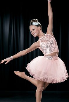 """Two-Piece Sequined Baby Pink with Fingerless Gloves and Silver Hair Clip - """"One Sweet Love"""""""