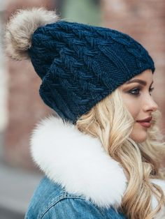 30b7dd2dbde Pom pom hat fleece lined-Fur pom pom slouchy beanie-Winter hats for  women-Slouchy beanie women-Pom pom beanie-Slouchy hat fur pom-Pom hats