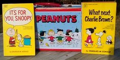Vintage 1970s Peanuts Books, Set of 2, with Metal Lunch Box, What next, Charlie Brown? and It's For You, Snoopy by 2CTreasures on Etsy