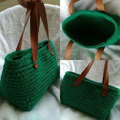 Трикотажная сумка, связанная крючком