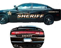Sheriff Vehicle Patrol Car SUV Vinyl Graphic Decal Lettering Striping Kit | eBay Prop Design, Sheriff, Decals, Lettering, Kit, Vehicles, Ebay, Tags, Decal