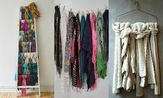 Comment ranger des écharpes/foulards Skater Dress, Wardrobe Rack, Dresses For Sale, Bandana, Organizing, Goodies, Diy, Dreams, Bedroom