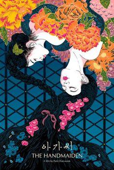 Image of The Handmaiden Silkscreen Poster (Limited) Kunst Poster, Poster S, Movie Poster Art, Poster Ideas, Film Poster Design, Fanart, Alternative Movie Posters, Cool Posters, Illustrations And Posters