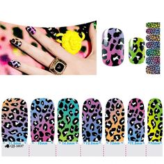 1 Set Wise Nail Art Stickers Fashion Decals Colorful Transfer Manicure Wraps Style Model07 ** Visit the image link more details.