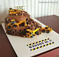 Image result for construction theme birthday cake