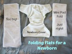 How to fold flat diapers to fit inside tiny newborn covers - easy photo tutorial!