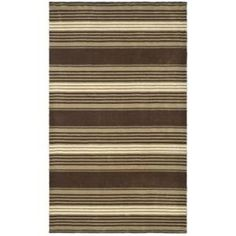 Martha Stewart Living Harmony Stripe Tobacco Leaf 4 ft. x 6 ft. Area Rug  on  Daily Rug Deals