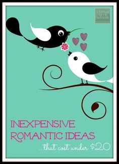 Inexpensive Romantic Ideas for Under $20 | http://KansasCityMamas.com