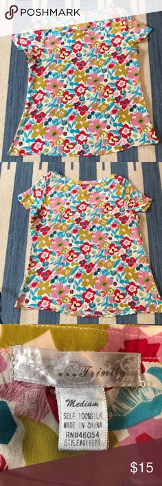 I just added this listing on Poshmark: Trinity 100% Silk Floral Top. #shopmycloset #poshmark #fashion #shopping #style #forsale #Trinity #Tops