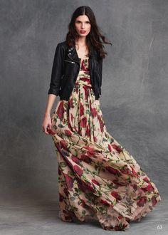dolce and gabbana winter 2016 woman collection 47 Fashion Vestidos, Women's Fashion Dresses, Black Women Fashion, Womens Fashion, Cheap Fashion, Lady Like, Modest Dresses, Long Dresses, Maxi Dresses