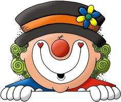Cartoon Drawing For Kids, Cartoon Drawings, Easy Drawings, Clown Party, Circus Party, Happy Birthday Clown, Clown Horror, Birthday Clipart, Send In The Clowns