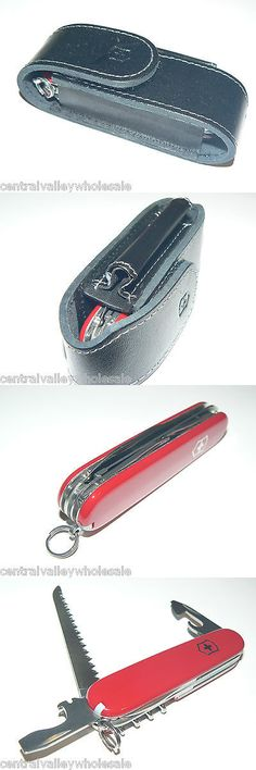 Multi-Tools 66824: New Victorinox Swiss Army 91Mm Knife Red Camper And Leather Sheath 53301 A -> BUY IT NOW ONLY: $30 on eBay!