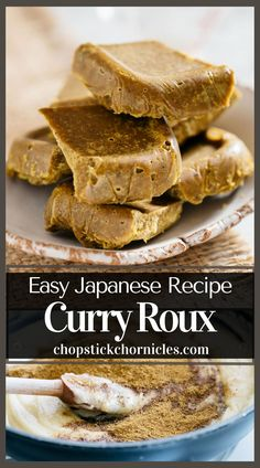 """#Japanese curry roux Homemade Japanese curry roux recipe from scratch. Just like """"Golden Curry"""" roux used to make Japanese curry rice. Step by step photos    instructional video. #Japanese #recipe #homemadejapanese #homemade #howtomakejapanese #diyjapanese #curryrouxrecipe #curryroux #curryrouxjapanese Chicken Katsu Curry, Beef Curry, Japanese Street Food, Japanese Food, Easy Japanese Recipes, Asian Recipes, Curry Roux Recipe, Golden Curry, Video Japanese"""