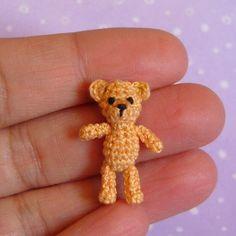 PDF PATTERN To Crochet a Miniature Mini Orsino Bear @Georgene Cook  you should make all the grandkids one!! :)