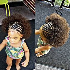 This is a perfect crochet braid hairstyle idea for the little girls having curly. This is a perfect crochet braid hairstyle idea for the little girls having curly hair. This interesting hairstyle wi Braided Hairstyles Updo, Sporty Hairstyles, Crochet Braids Hairstyles, Fringe Hairstyles, Natural Hairstyles, Children's Hairstyle, Beehive Hairstyle, Asymmetrical Hairstyles, Hairstyle Ideas