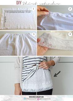 DIY sewing | Shirt Extender | Lace Extender