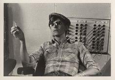 David Bowie during recording at Hansa Studios, 1977. Photo © Coco Schwab