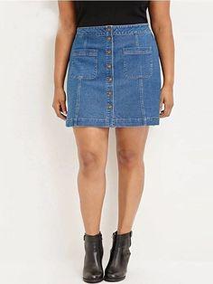 Saia Jeans Plus Size - Compre Online | DMS Boutique
