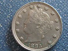 #40   1883 NC LIBERTY HEAD V NICKEL HAS SOME MINT LUSTER  NICE COIN (XF-AU)  MUST SEE THIS ONE