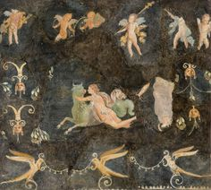 "Art / Roman, Pompeii, 1st century AD.  ""The Rape of Europa""."