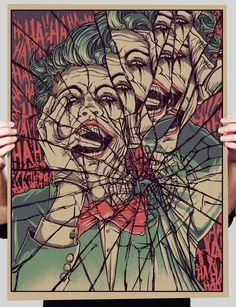 Cracked mirror art girl