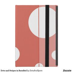 Dots and Stripes in BarnRed Covers For iPad Mini