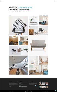 Create a stunning interior design or architecture portfolio today with Cozy WordPress theme! Layout Design, Web Design, Interior Design Themes, Creative Portfolio, Architecture Portfolio, Wordpress Theme, Cozy, Studio, Decoration