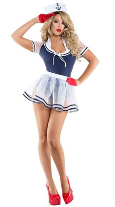 Sexy Halloween Costumes for Women, 2019 Adult Halloween Costume Ideas Pin Up Girls, Nun Halloween Costume, Nurse Costume, Mean Girls Halloween, Navy Costume, Mini Frock, Sailor Costumes, Sexy Costumes For Women, Girls In Mini Skirts