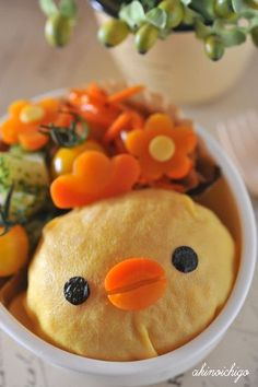 Chicken omelet rice bento