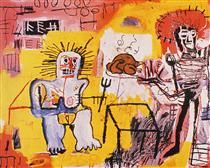 Jean-Michel Basquiat, Arroz con pollo (Chicken with rice), 1981.