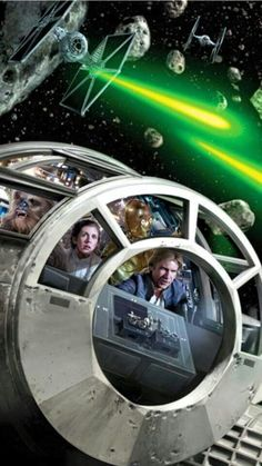 Millenium Falcon - Leia and Han