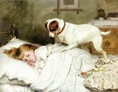 by Charles Burton Barber (1845-1894) peintre Anglais