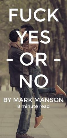fuck yes or no mark manson