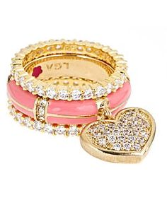 stackable heart ring set <3