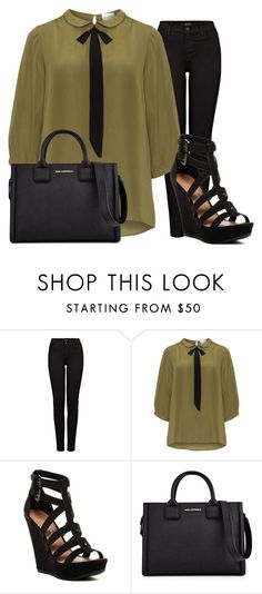 """""""#348"""" by deboramarilla ❤ liked on Polyvore featuring J Brand, JunaRose, Chinese Laundry, Karl Lagerfeld and plus size clothing"""