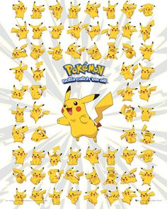 Pokemon - Pikachu - Official Mini Poster. Official Merchandise. FREE SHIPPING