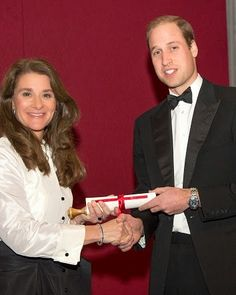 Prince William,Duke of Cambridge visits RUSI and presented the Chatham House Prize 2014 to Melinda Gates in the Banqueting House on 21.11.2014 in London, England
