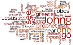 A Word Cloud from the text of Matthew 11:2-11
