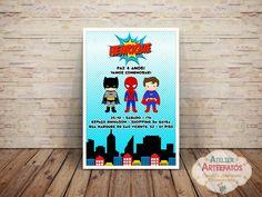 Convite Super Heróis