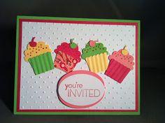 M.A.S.W. Designs: Cupcake Birthday Party Invites