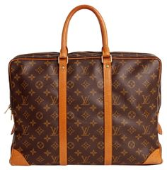 3dc39084c8bad1 LOUIS VUITTON Porte Documents Voyage Briefcase (Auth Pre Owned) Leather  Laptop Bag, Monogram