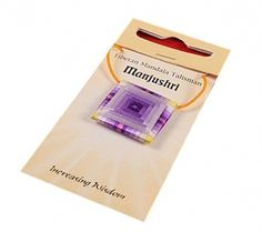 Mandala Talisman hanger Manjushri - 2.5x2.5 cm - idee