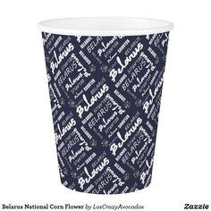 Belarus National Corn Flower Paper Cup