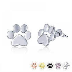 Woman's 925 Sterling Silver Dog & Cat Paw Stud Earrings $ 9.95 & FREE Shipping #earrings #jewelry #watches #jewelrynothers #jewelrylove #jewelrysale Pet Dogs, Dog Cat, Valentine Day Gifts, Valentines, Cat Paws, Metal Stamping, Shape Patterns, Women's Earrings, Engagement