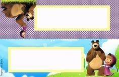 Masha Et Mishka, Marsha And The Bear, School Labels, Bear Party, School Themes, Frame, Ideas, Custom Badges, Game Logo