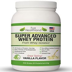 Best Tasting Whey Protein Isolate Powder Diet Supplements Vanilla Flavor for Men Women And Seniors Organic Protein Powder Fat Free Lactose Free Whey Protein All Natural Pure Whey Protein >>> Click image for more details.