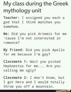 I think I would be Athena because my teachers all think I'm smarter than I am