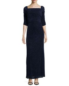 3/4-Sleeve Glitzy Column Gown, Eclipse by Laundry by Shelli Segal at Neiman Marcus Last Call.